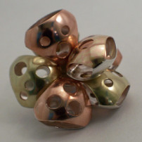 Copper, Brass, and Sterling Silver brooch